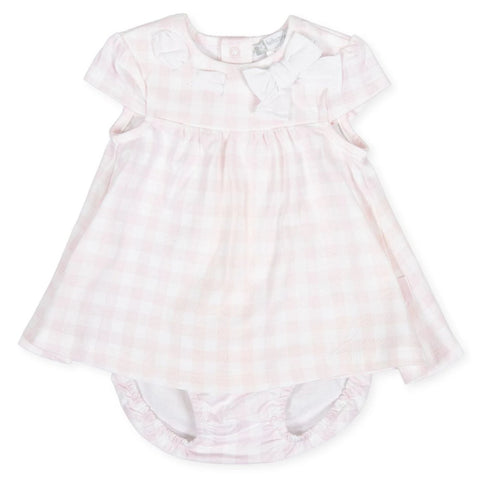 Tutto Piccolo Girl's 8782 Dress with Briefs - Pink