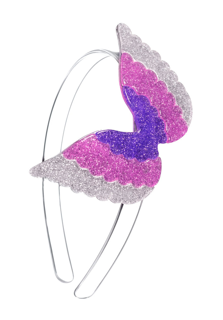 Lilies & Roses NY Girl's Silver Wings Headband