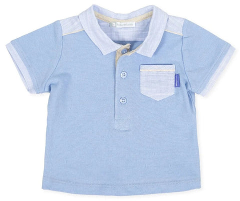 Tutto Piccolo Girl's 8811 Blue Polo Shirt