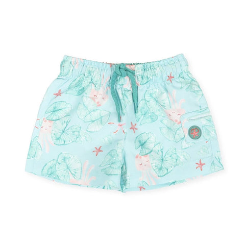 Tutto Piccolo Boy's Green Print Swim Trunks