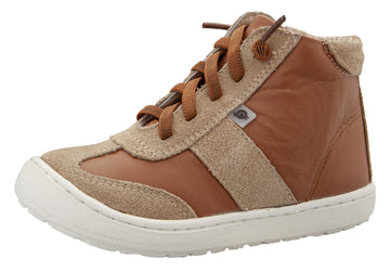 Old Soles Girl's & Boy's 9001 Travel High Top Leather Sneakers - Tan/Tan Suede