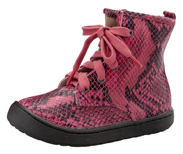 Old Soles Girl's & Boy's 9005 Swagger High Top Lace Sneaker Boots - Red Serp