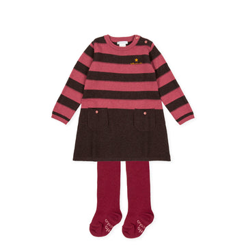 Tutto Piccolo 9224 Vestido Tricot Knitted Dress - Carmine