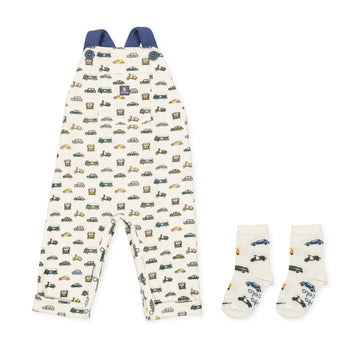 Tutto Piccolo Boy's & Girl's 9322 Peto with matching socks- Ecru