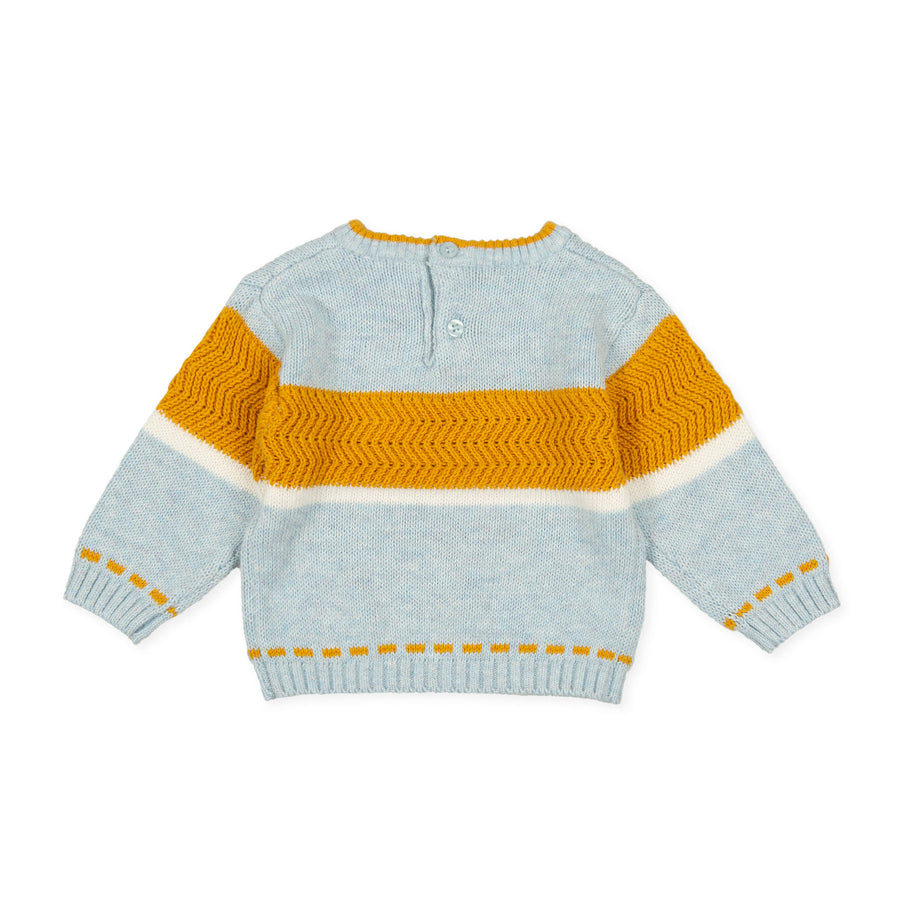 Tutto Piccolo Boy's & Girl's Jersey Tricot Knitted Sweater - Porcelain