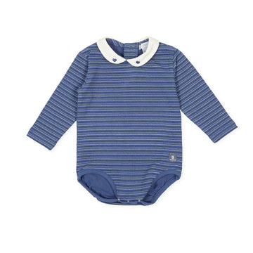 Tutto Piccolo Boy's & Girl's 9723 Body Punto Liso Bodysuit - Indigo