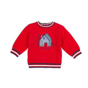 Tutto Piccolo Boy's & Girl's 9815 Jersey Tricot Knitted Jumper - Red