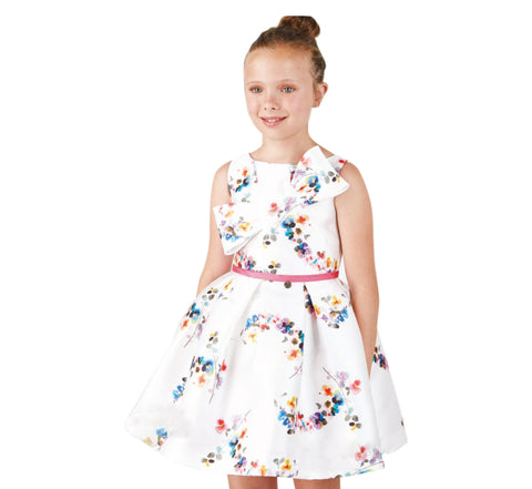 Amaya Girl's 514149SM Fucsia Floral Dress