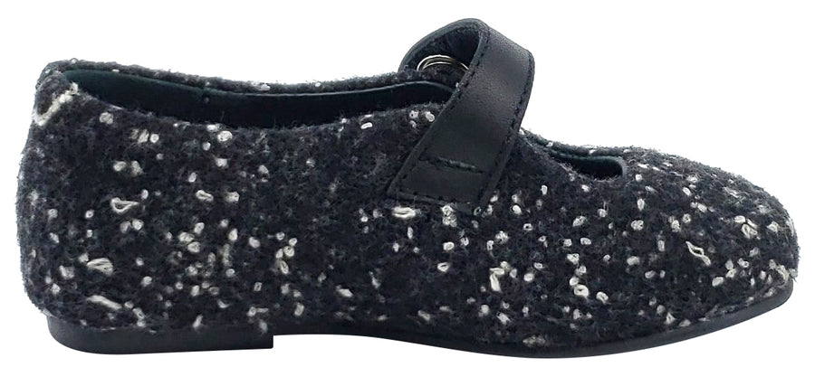 BluBlonc Girl's Constelacion Boucle Patent Strap Mary Jane