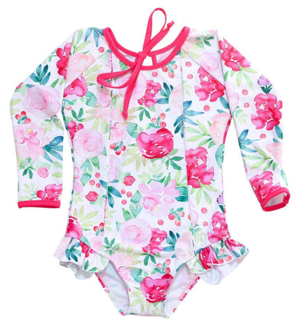 Blueberry Bay Bavaro Floral Swimsuit