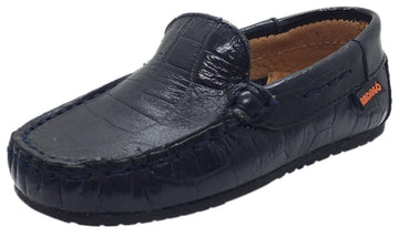 Andago by Venettini Boy's Blake Crocodile Leather Patent Back Slip On Moccasin Loafer