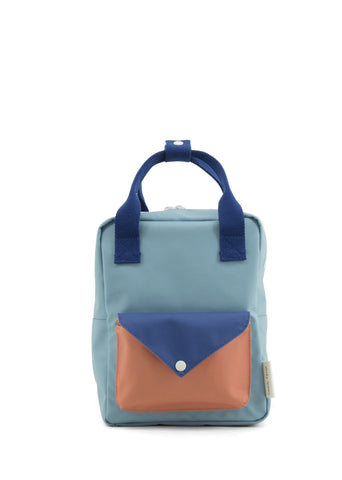Sticky Lemon Small Backpack, Denim Blue