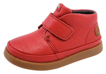 Camper for Boy's and Girl's Leather Hook and Loop Rojo Miel Bottie