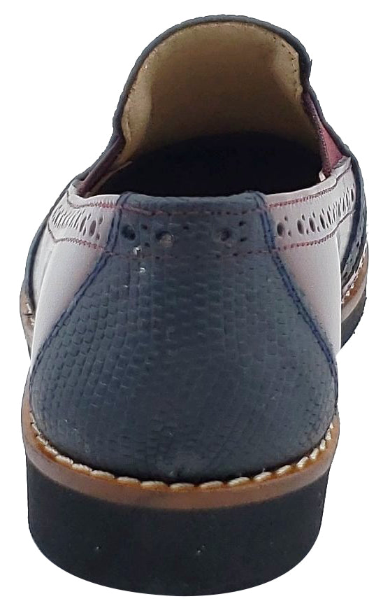 Maria Catalan Boy's & Girl's Burdeos Burgundy Smooth Slip On Moccasin Loafer Shoe