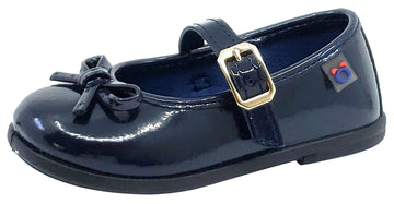 Conguitos Osito Girl's Buckle Closure Mary Jane, Patent Navy