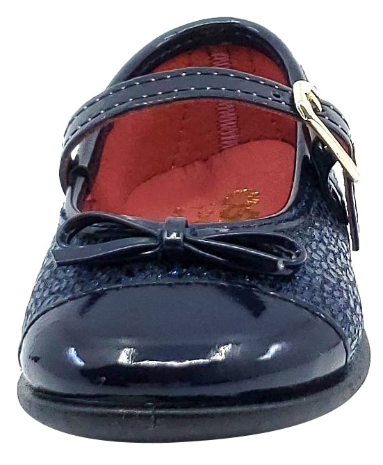 Conguitos Osito Girl's Buckle Closure Mary Jane, Lemur Navy