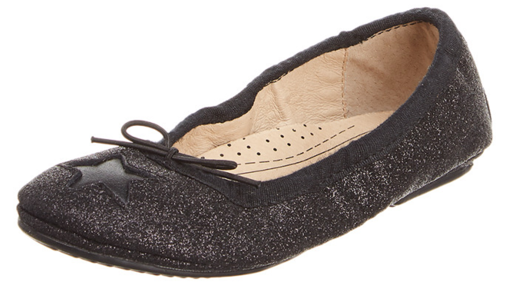 Old Soles Girl's Cruise Star Sparkle Black Glam Leather Slip On