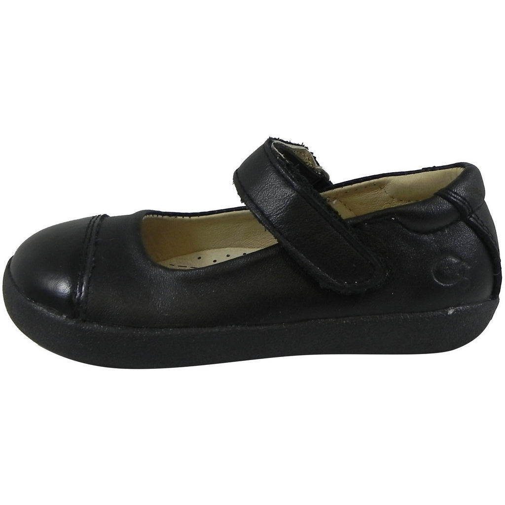 Old Soles Girl's 365 Quest Shoe Black Leather Hook and Loop Mary Jane Shoe - Just Shoes for Kids  - 2