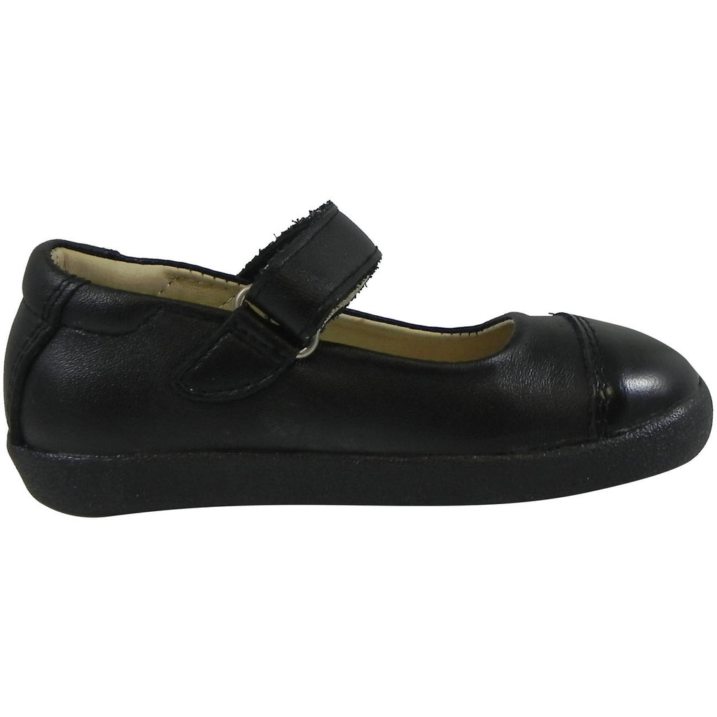 Old Soles Girl's 365 Quest Shoe Black Leather Hook and Loop Mary Jane Shoe - Just Shoes for Kids  - 3