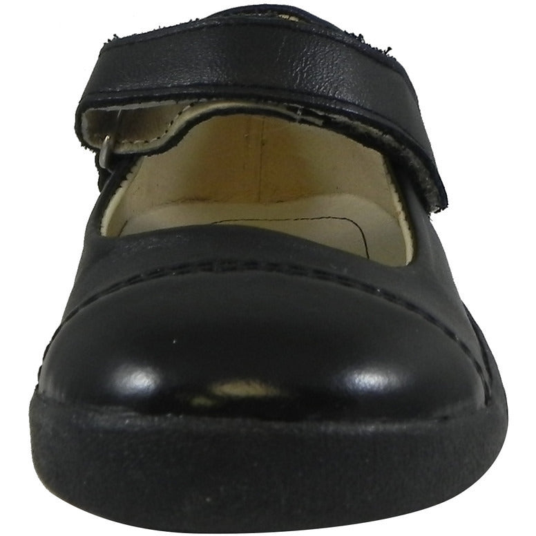 Old Soles Girl's 365 Quest Shoe Black Leather Hook and Loop Mary Jane Shoe - Just Shoes for Kids  - 4