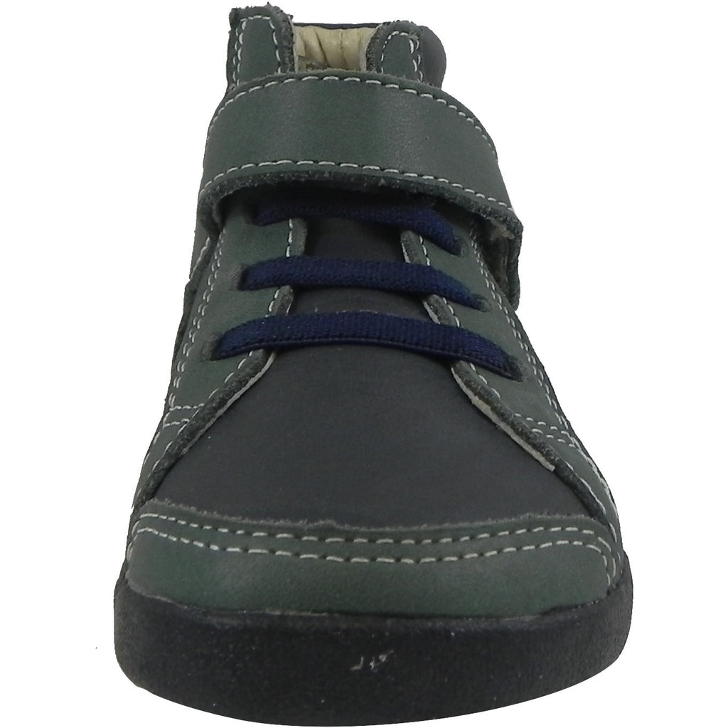 Old Soles Boy's 335 Woolfy Sneaker Navy/Emerald - Just Shoes for Kids  - 4