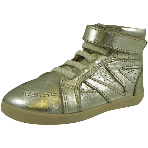 Old Soles Girl's and Boy's 329 Gold Cheer Leader High Top Sneaker