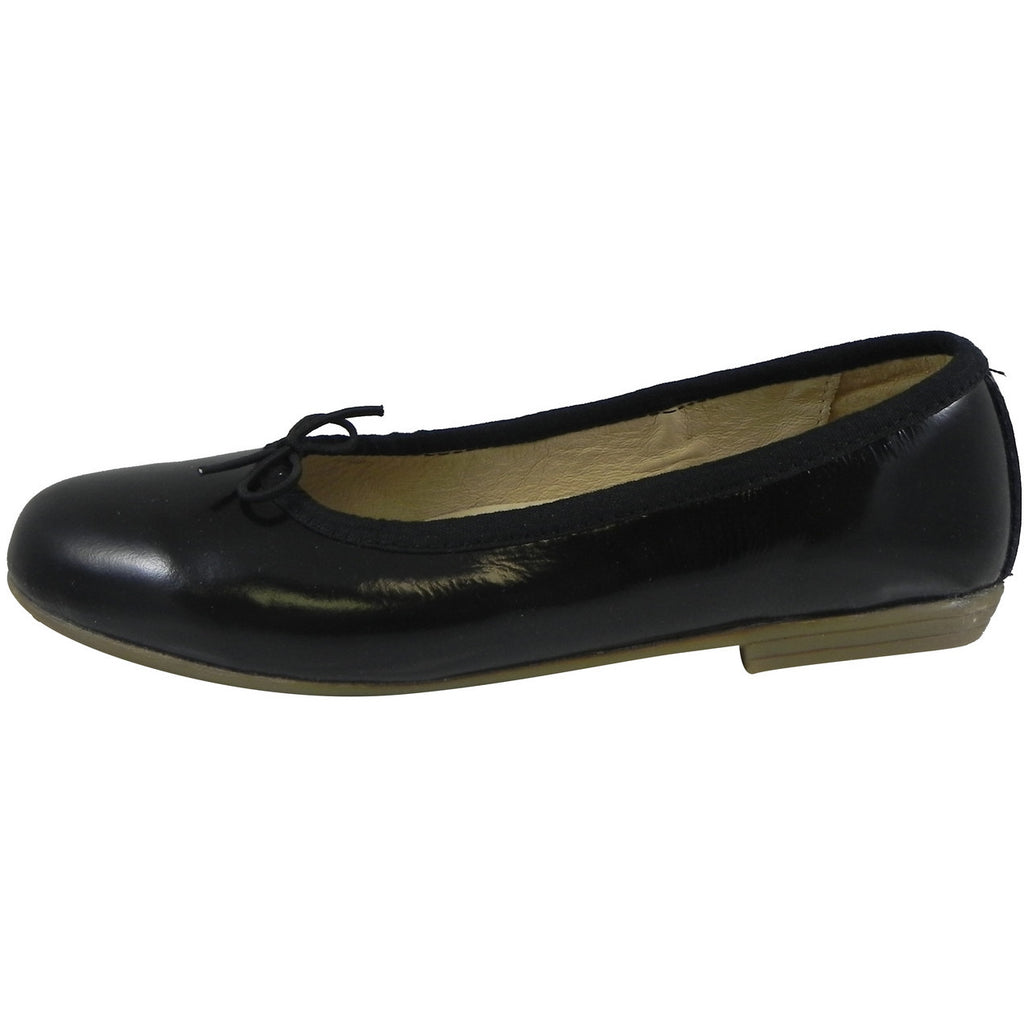 Old Soles Girl's 400 Black Patent Brule Flat
