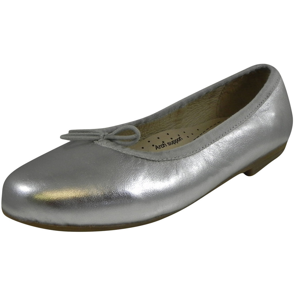 Old Soles Girl's 400 Silver Brule Flat