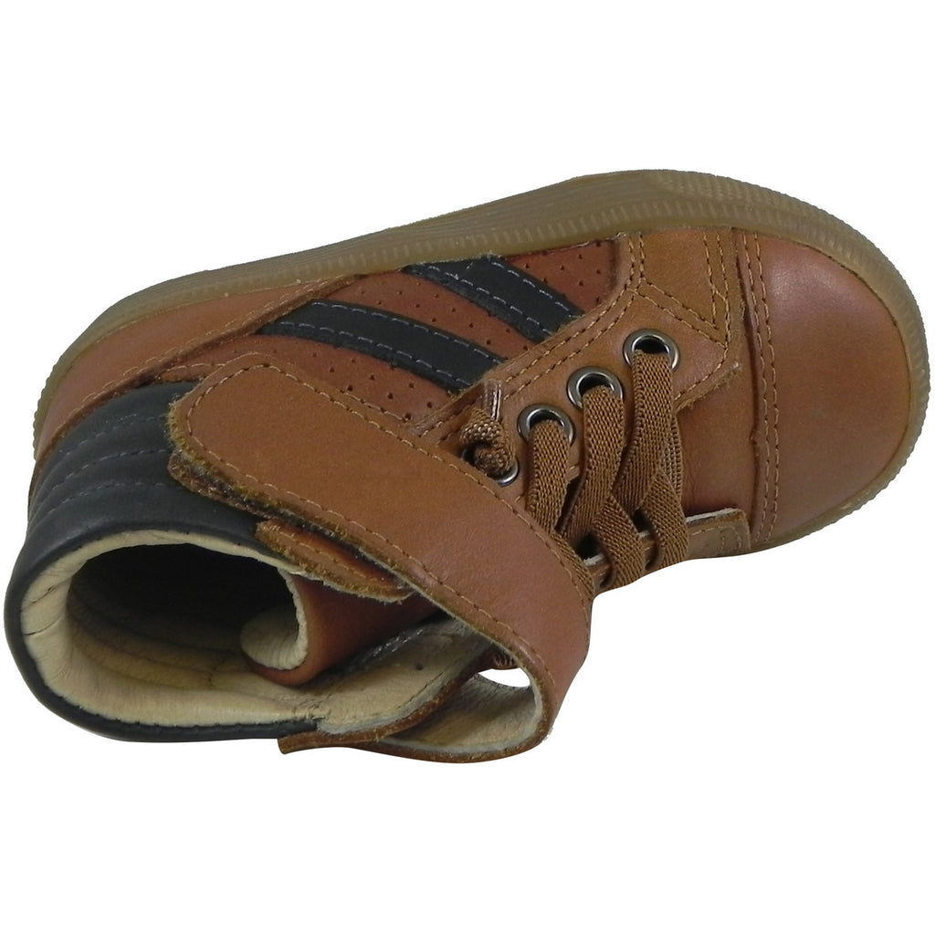 Old Soles Boy's & Girl's 1049 Tan & Distressed Navy The Outback Shoe Sneaker