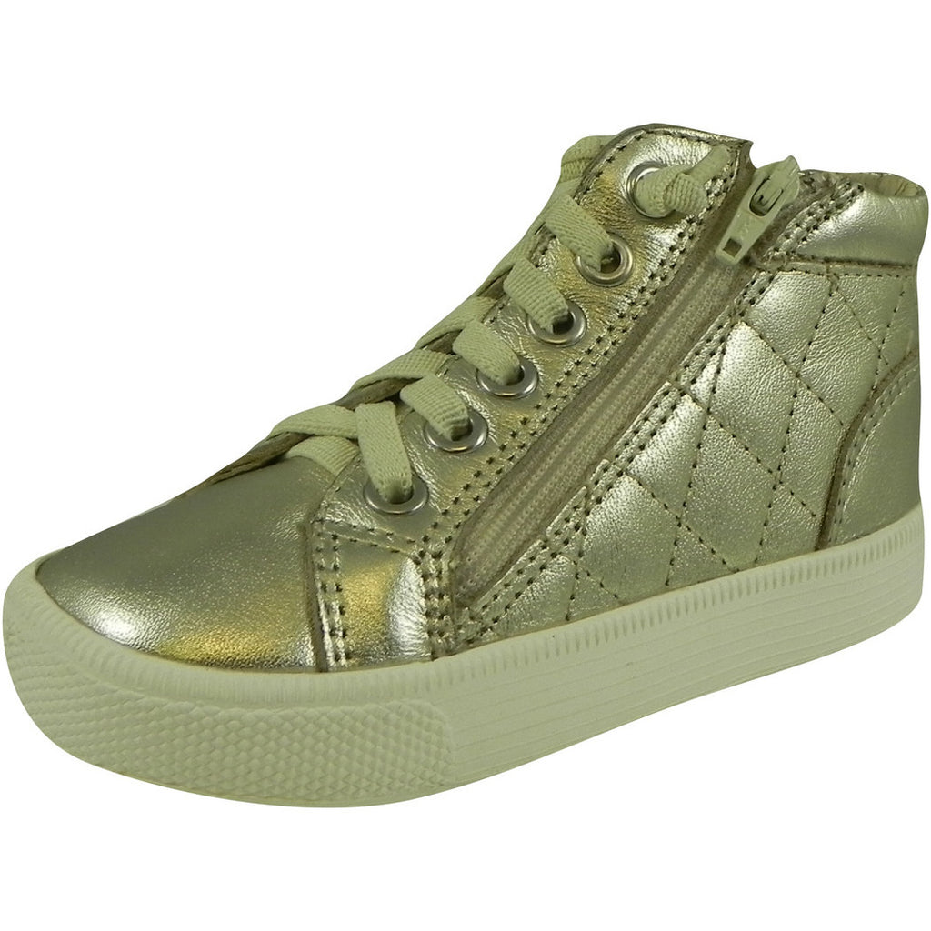Old Soles Girl's 1041 Gold Eazy Quilt Sneaker