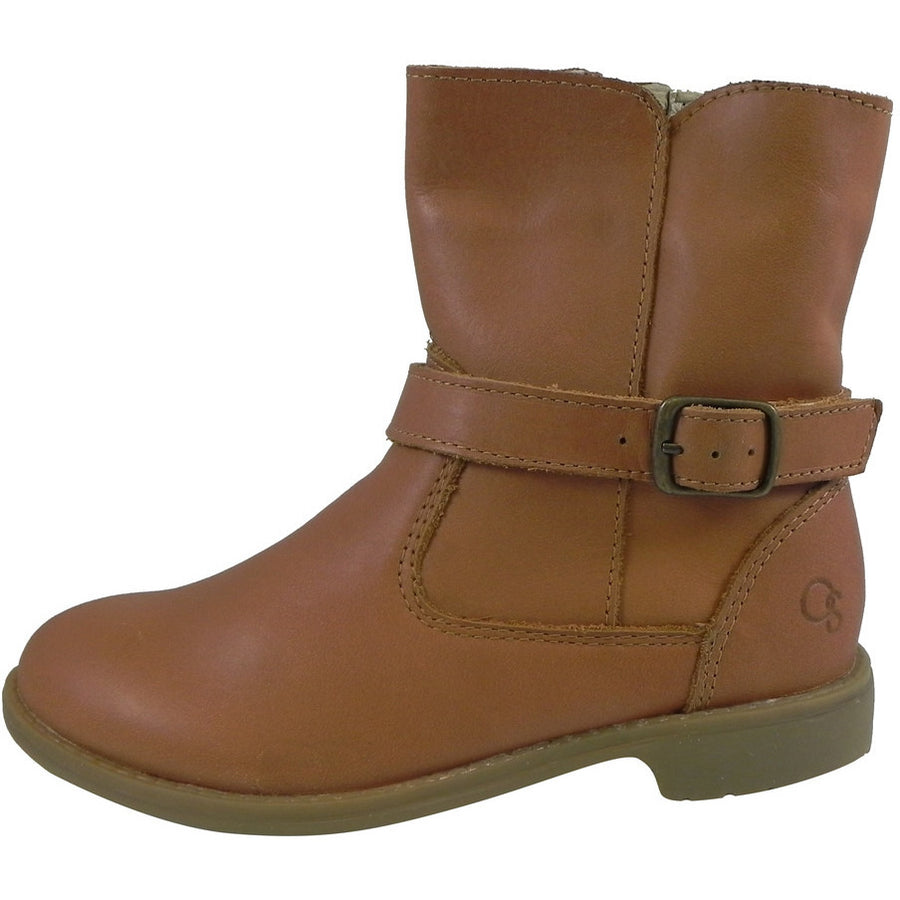 Old Soles Girl's 2000 Tan Millenium Leather Buckle Ankle Boots - Just Shoes for Kids  - 2