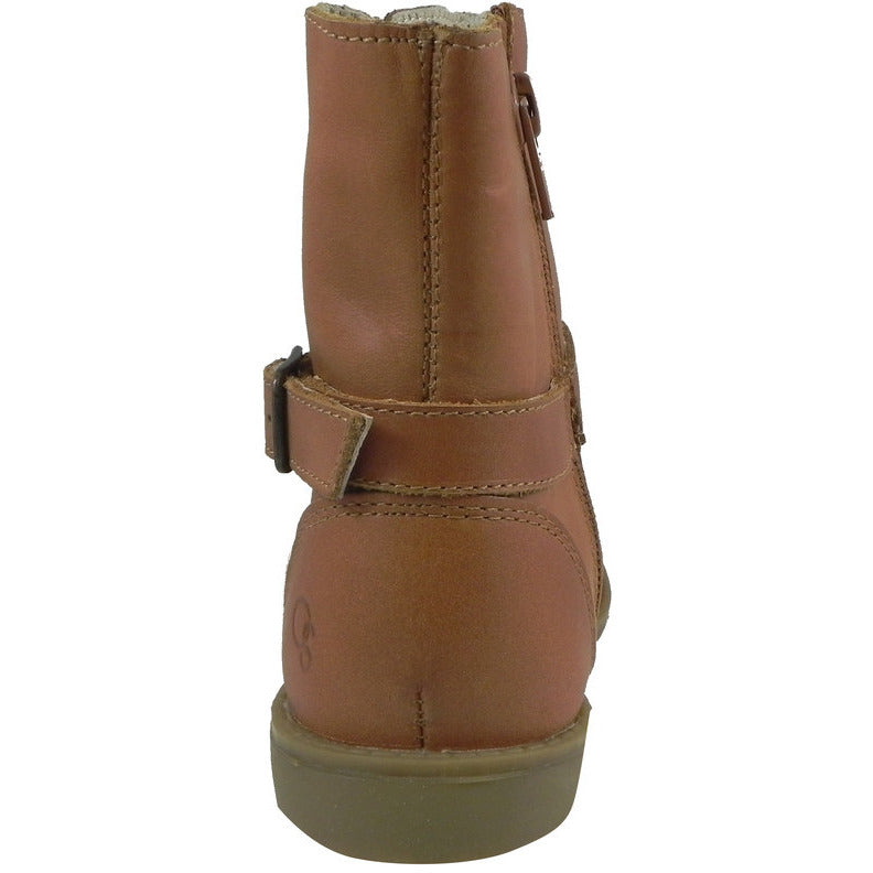 Old Soles Girl's 2000 Tan Millenium Leather Buckle Ankle Boots - Just Shoes for Kids  - 5