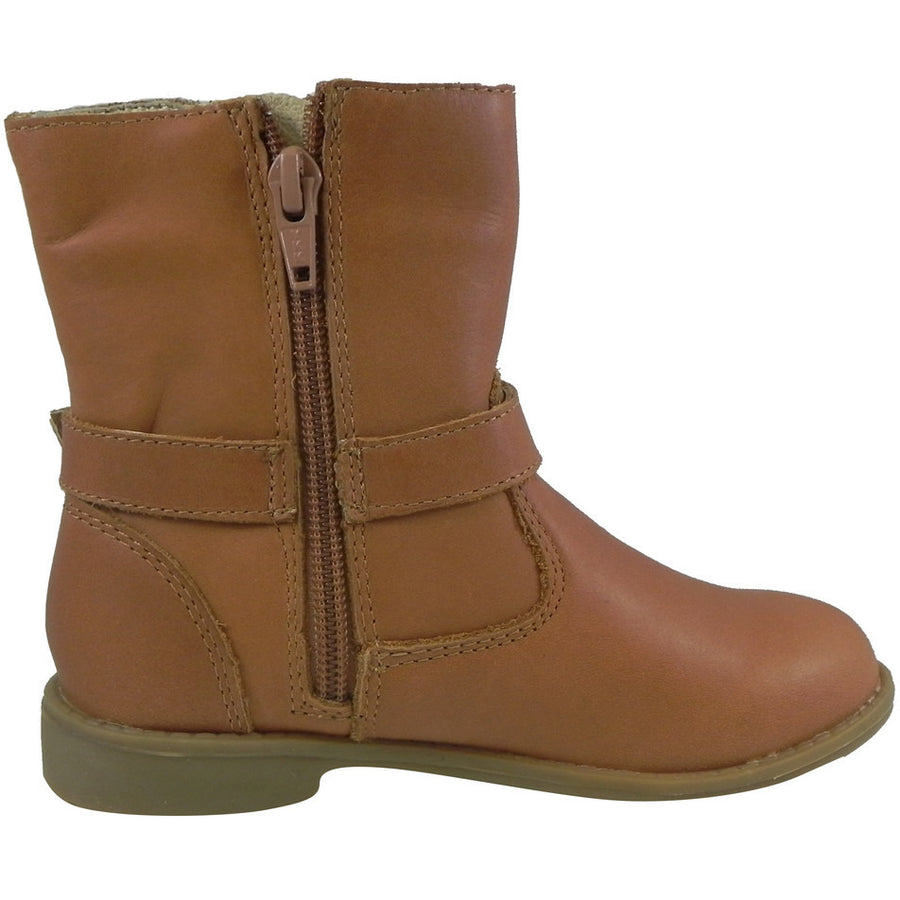 Old Soles Girl's 2000 Tan Millenium Leather Buckle Ankle Boots - Just Shoes for Kids  - 3