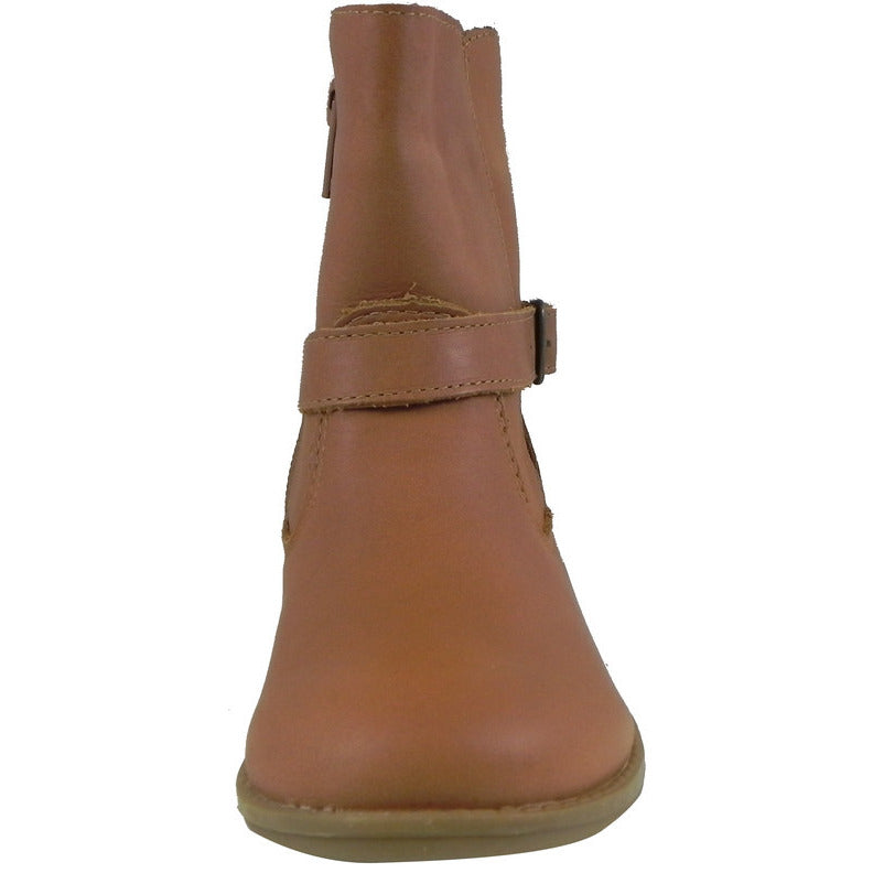 Old Soles Girl's 2000 Tan Millenium Leather Buckle Ankle Boots - Just Shoes for Kids  - 4