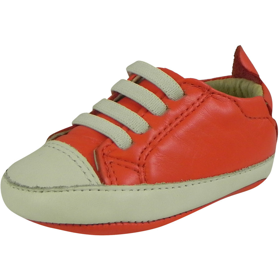 Old Soles Boy's & Girl's 030 Red & White Eazy Tread Sneaker Shoe