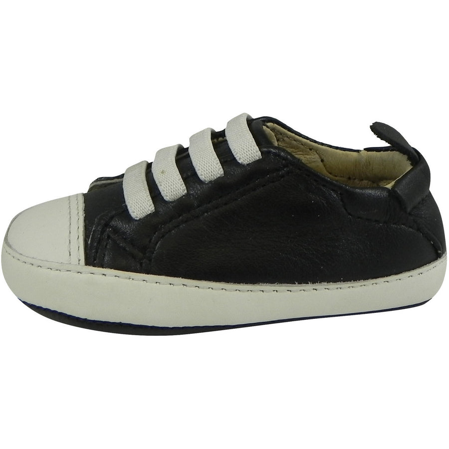 Old Soles Boy's & Girl's 030 Black & White Eazy Tread Sneaker Shoe