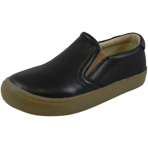 Old Soles 1029 Boy's Distressed Black Dress Hoff Leather Loafers Shoe - Just Shoes for Kids  - 1