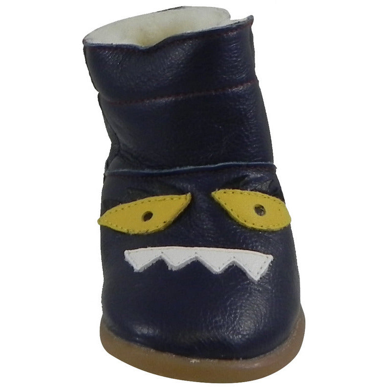ShooShoos Kid's 102764 Navy Mr. Monster Boot 20 M EU/5 M US Toddler - Just Shoes for Kids  - 3