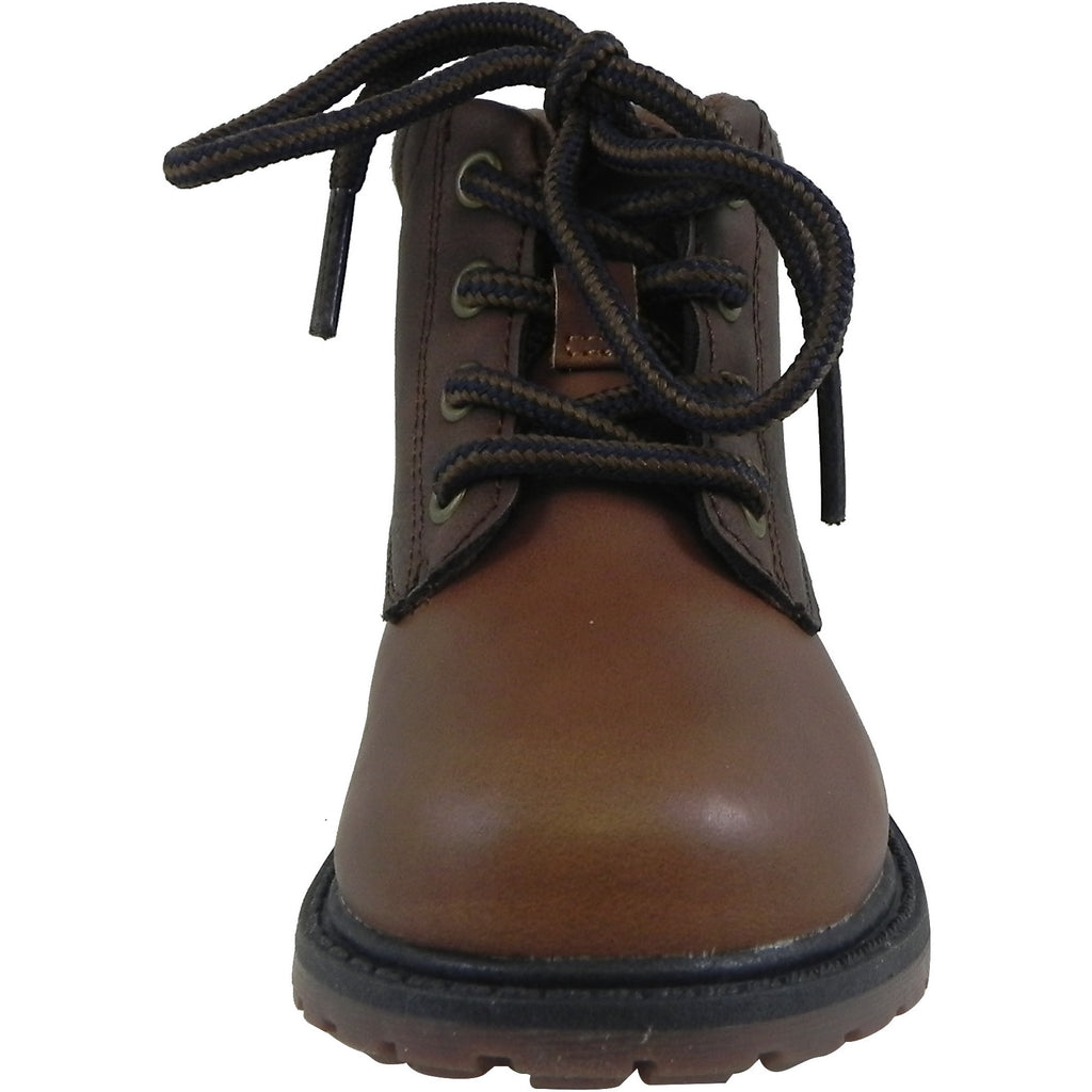 OshKosh Boy's Chandler Plaid Classic Lace Up Ankle Boots Brown - Just Shoes for Kids  - 5