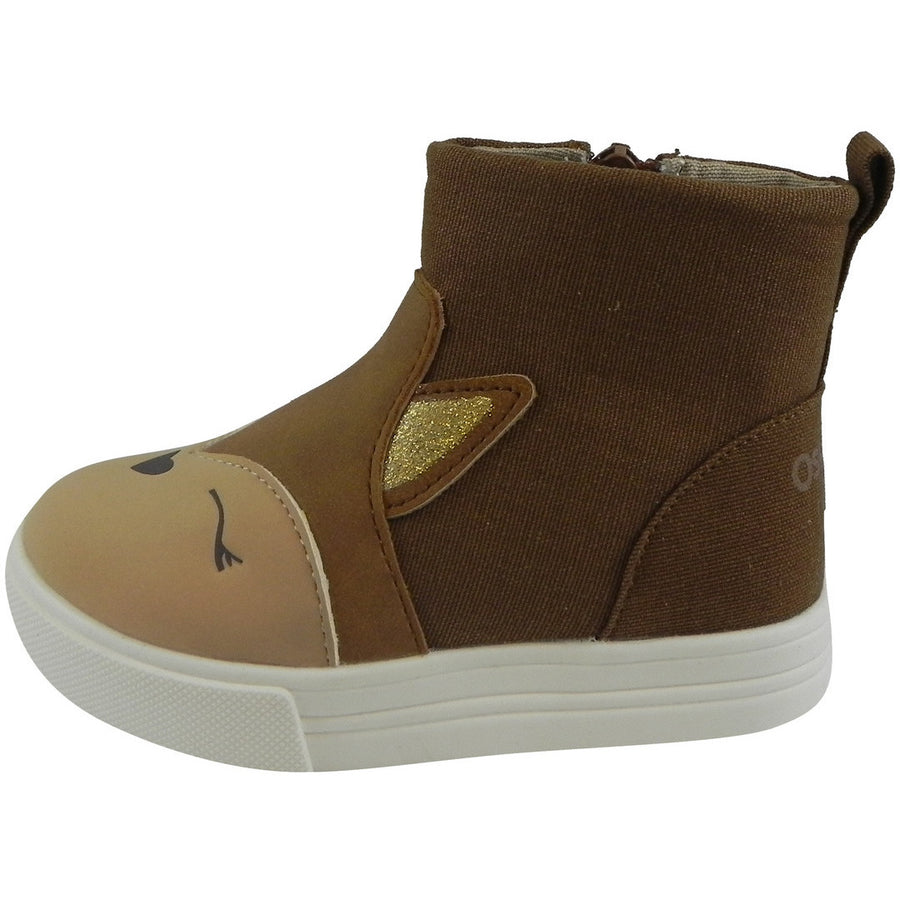 OshKosh Girl's Foxy Brown Fox Zip Up Ankle Bootie Boot Shoe Brown - Just Shoes for Kids  - 2