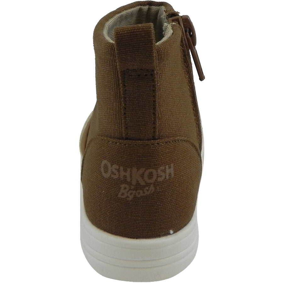 OshKosh Girl's Foxy Brown Fox Zip Up Ankle Bootie Boot Shoe Brown - Just Shoes for Kids  - 3