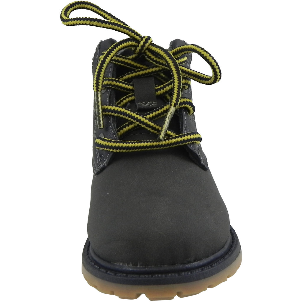 OshKosh Boy's Chandler Plaid Classic Lace Up Ankle Boots Navy - Just Shoes for Kids  - 5
