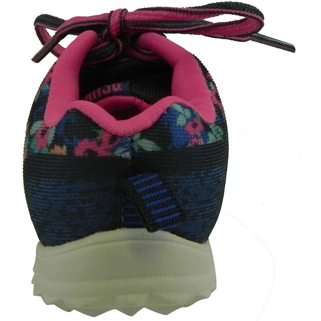 OshKosh Girl's Kova Comfortable Floral Easy On Lace Up Sneakers Blue/Pink - Just Shoes for Kids  - 3
