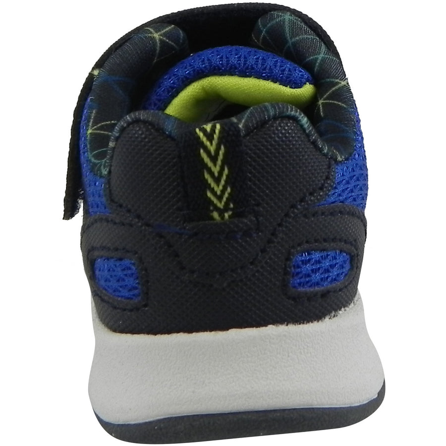 OshKosh Boy's Galaxy Mesh Lace Up Hook and Loop Sneaker Navy/Blue - Just Shoes for Kids  - 3
