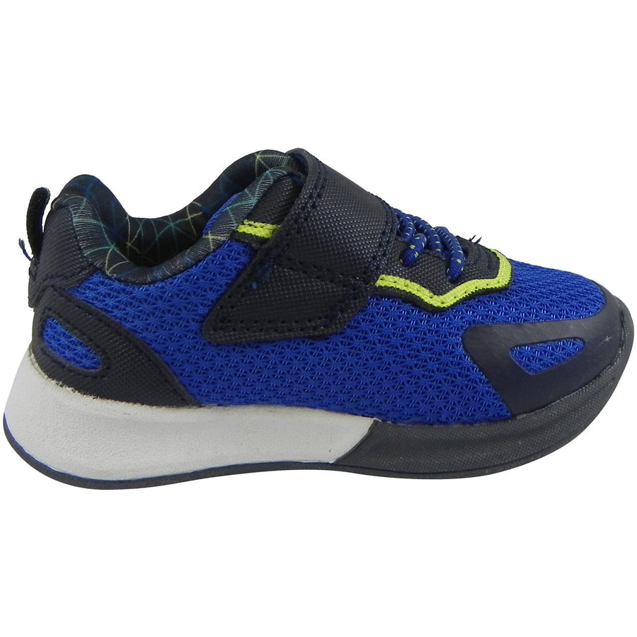 OshKosh Boy's Galaxy Mesh Lace Up Hook and Loop Sneaker Navy/Blue - Just Shoes for Kids  - 4
