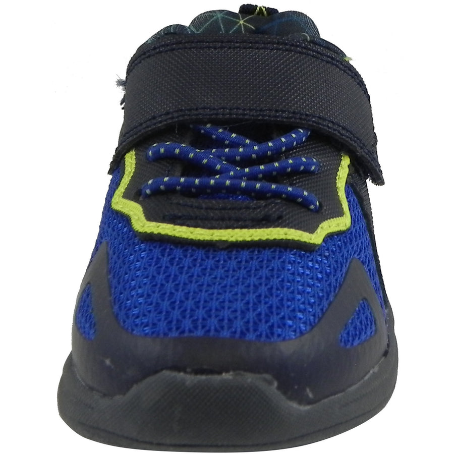 OshKosh Boy's Galaxy Mesh Lace Up Hook and Loop Sneaker Navy/Blue - Just Shoes for Kids  - 5