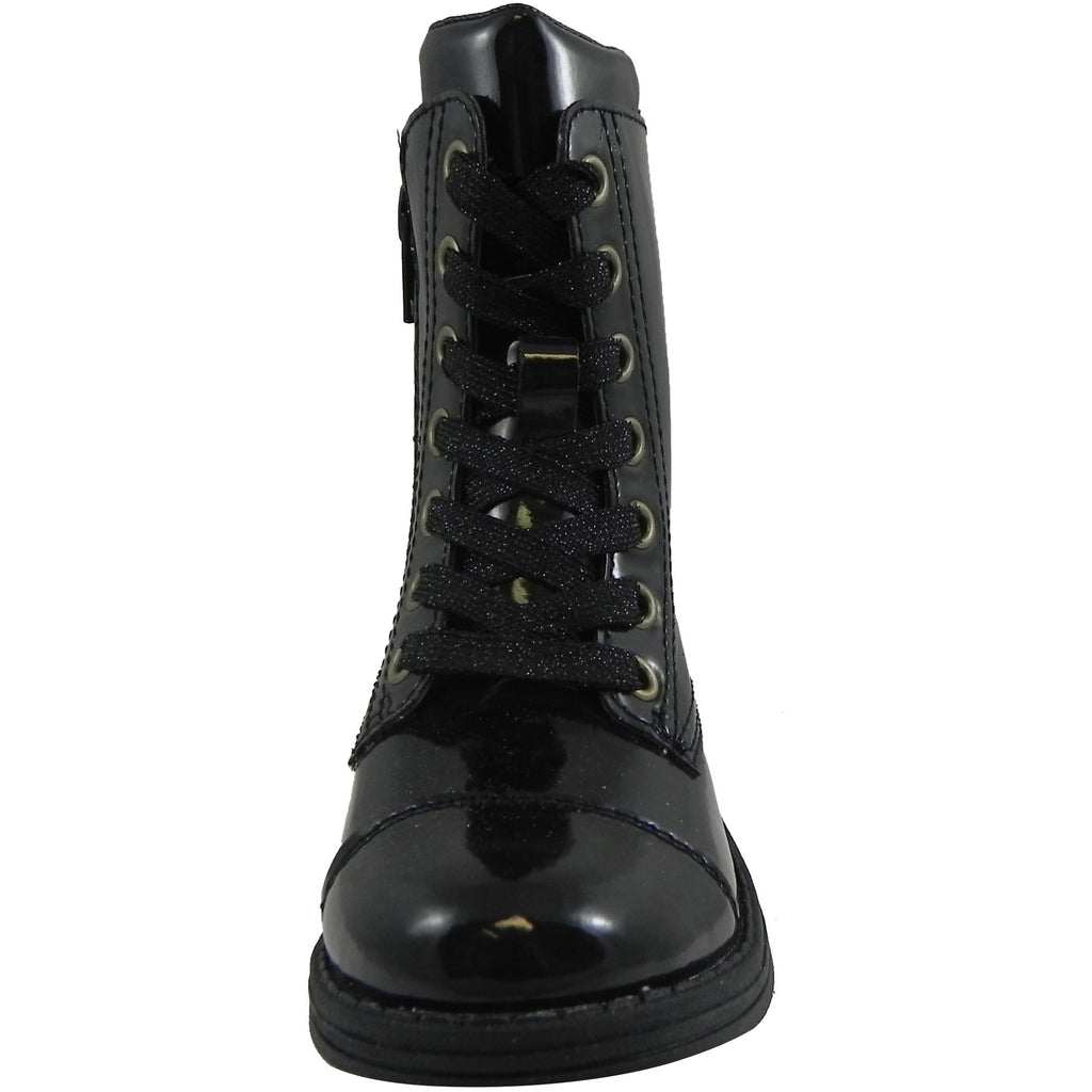 Umi Girls' Black Stomp Zipper Boot - Just Shoes for Kids  - 3
