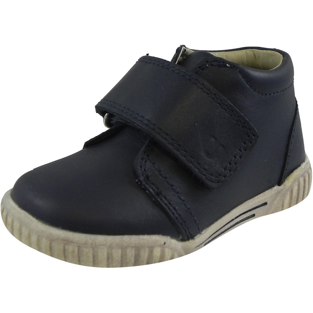 Umi Boy?ÇÖs & Girl?ÇÖs Bodi Leather Oversized Hook and Loop High Top Sneakers Blue - Just Shoes for Kids  - 1