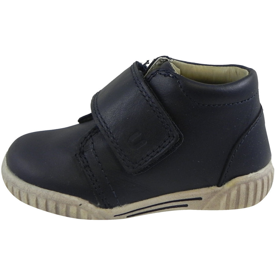 Umi Boy?ÇÖs & Girl?ÇÖs Bodi Leather Oversized Hook and Loop High Top Sneakers Blue - Just Shoes for Kids  - 2