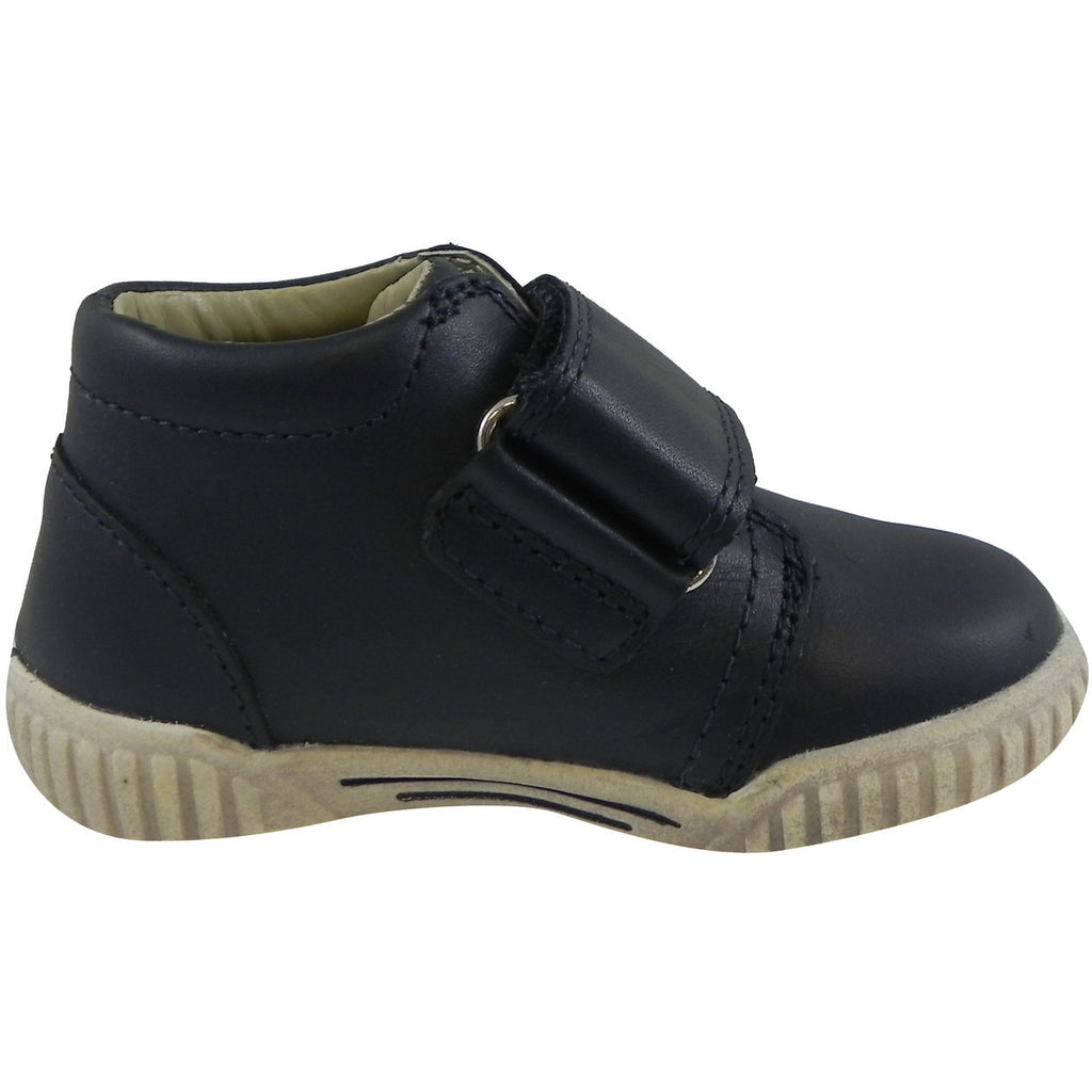 Umi Boy?ÇÖs & Girl?ÇÖs Bodi Leather Oversized Hook and Loop High Top Sneakers Blue - Just Shoes for Kids  - 4